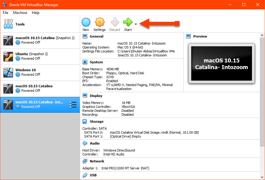 Install macOS Catalina on VirtualBox
