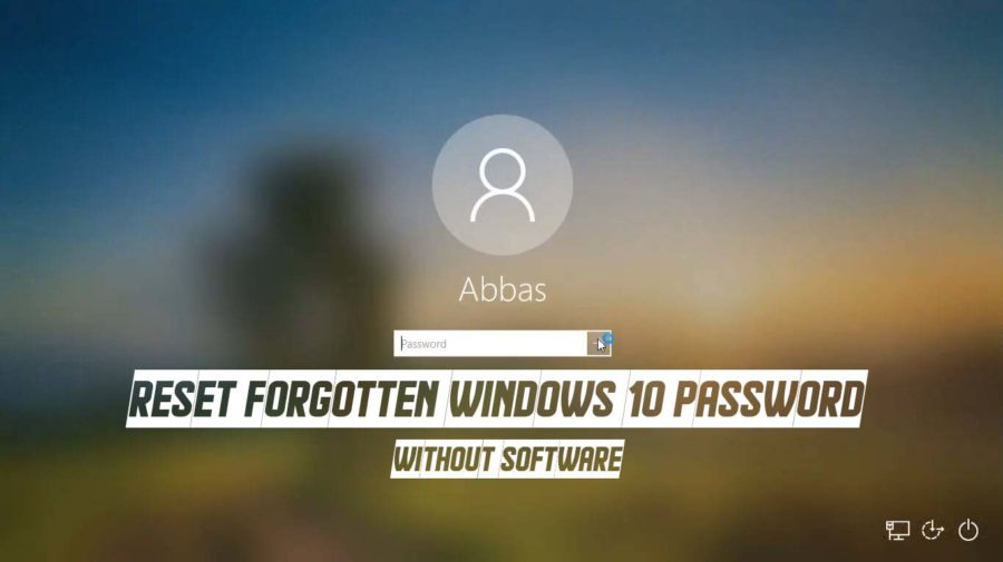 How to Reset Forgotten Windows 10 Password?
