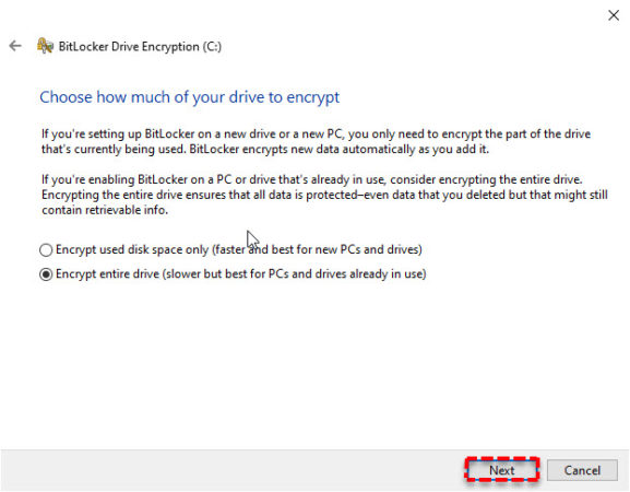 encrypt files on windows 10