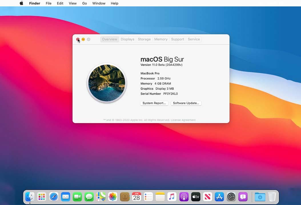 macOS Big Sur on VMWare