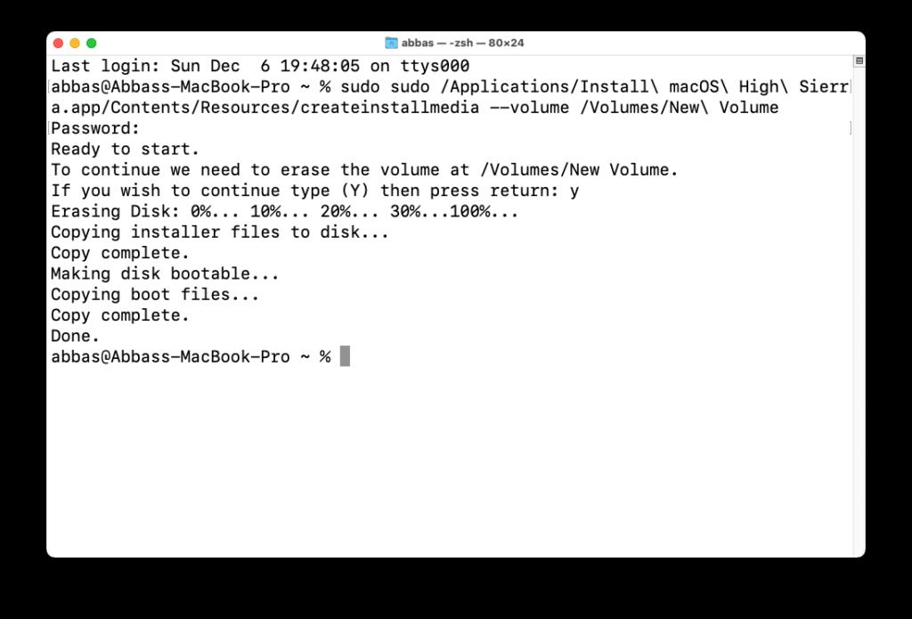 create macOS Monterey Bootable USB