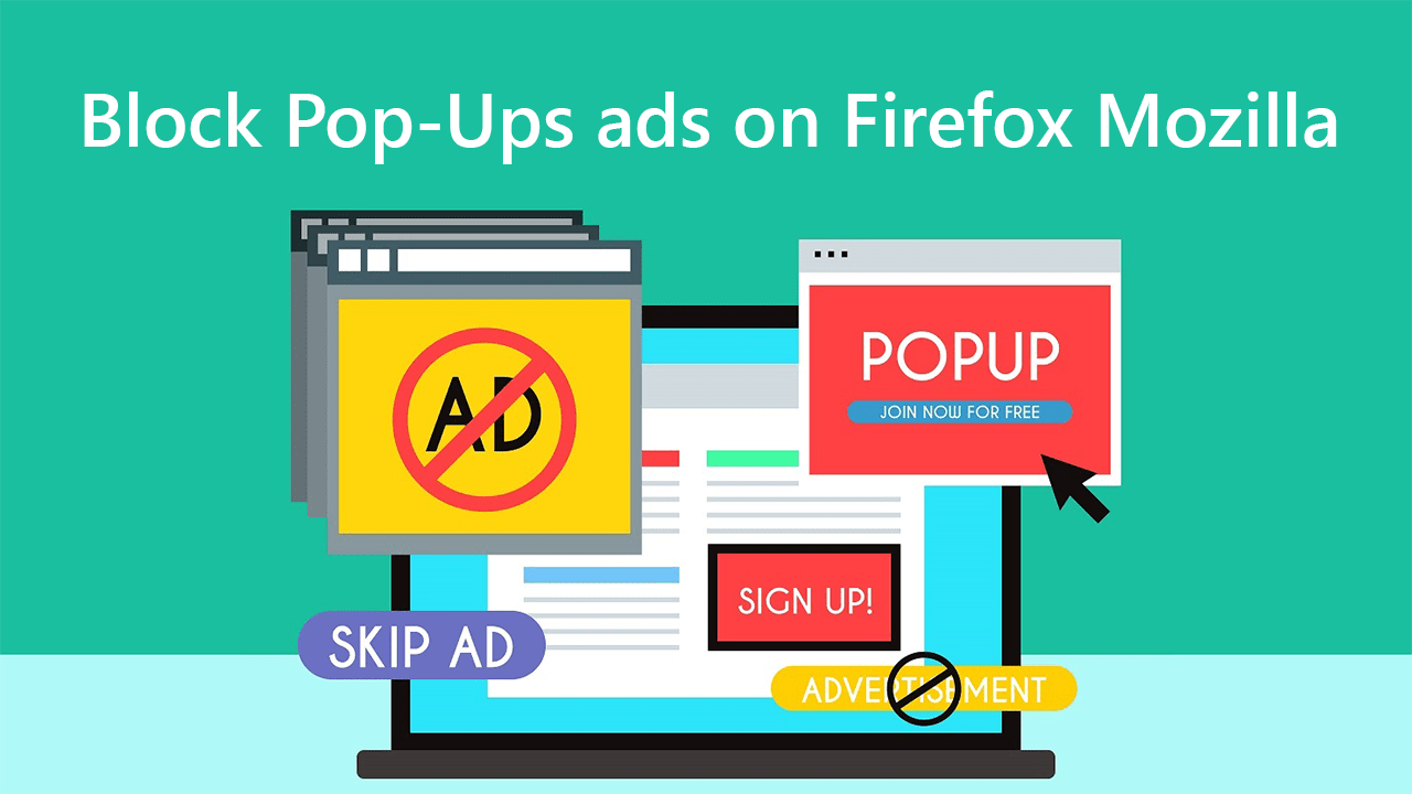 Block Pop-Ups ads on Firefox Mozilla