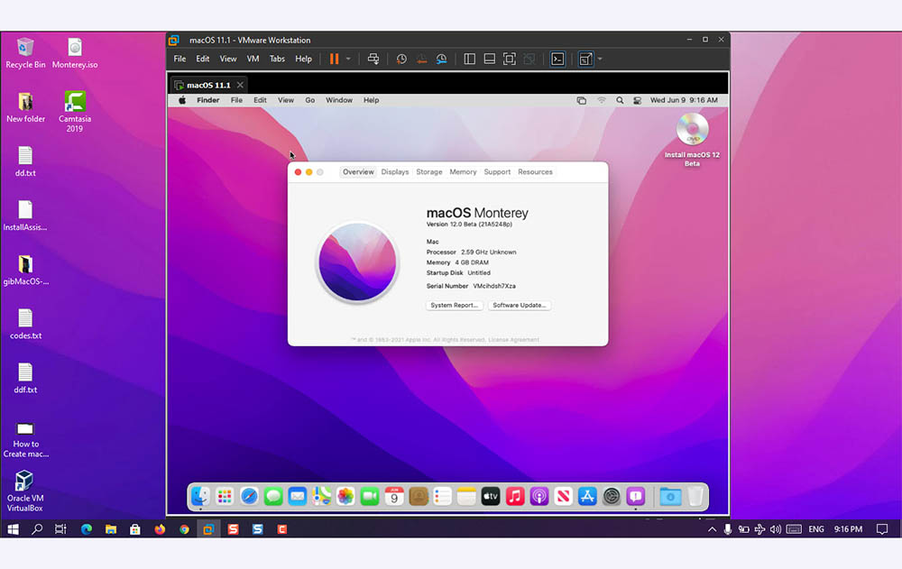 How to Install macOS Monterey on VMware on Windows- PC?