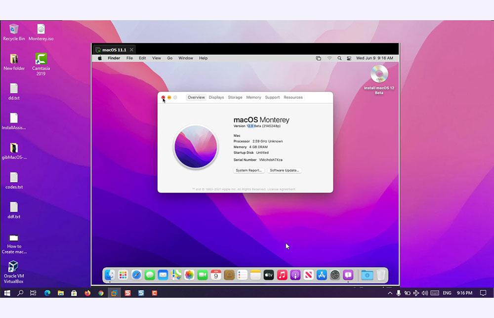 How to Install macOS Monterey on VirtualBox on Windows – PC?