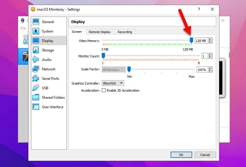 Install macOS Monterey on VirtualBox