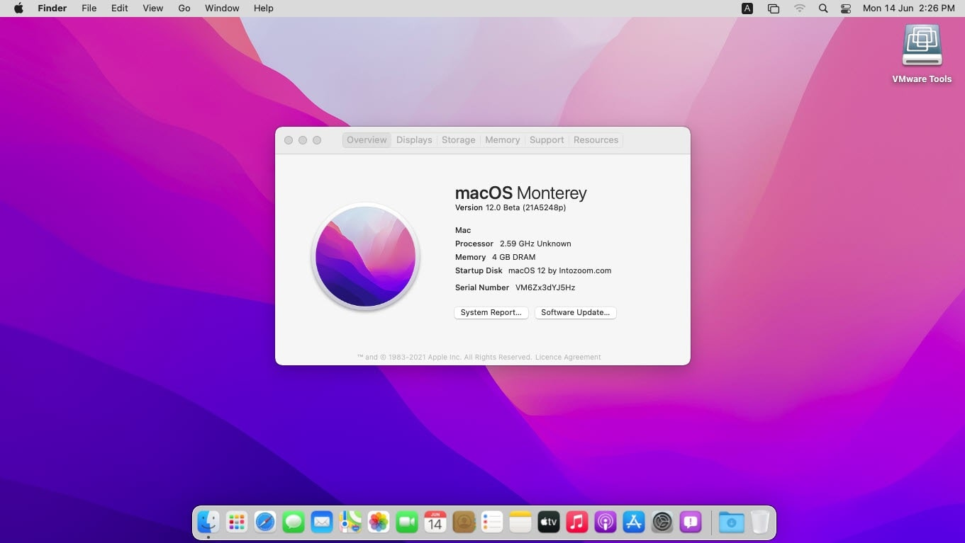 How to fix macOS Monterey Stuck at black screen after a restart on VMware?