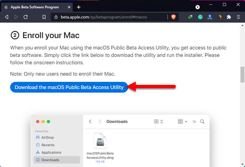 Install macOS Monterey Public Beta