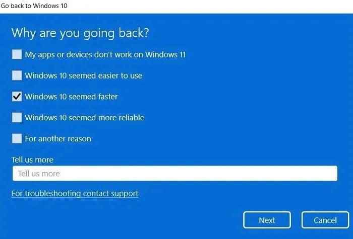 Downgrade From Windows 11 to Windows 10